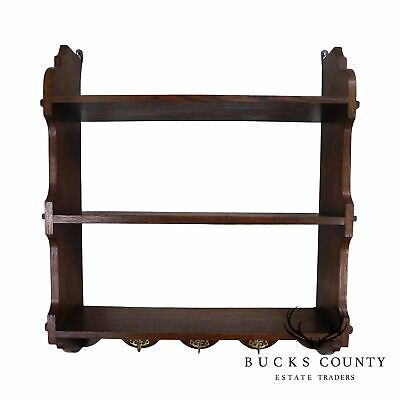 $795 • Buy Antique Arts & Crafts Style Oak Hanging Wall Shelf