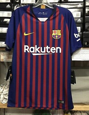 07641264974 Nike FC Barcelona 2018 2019 Home Jersey Sise Medium And Size Large • 21.50