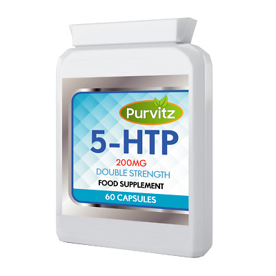 AU23.14 • Buy 5-HTP 200mg Capsules HIGH Strength Purvitz Not Tablets 5HTP Depression Mood UK