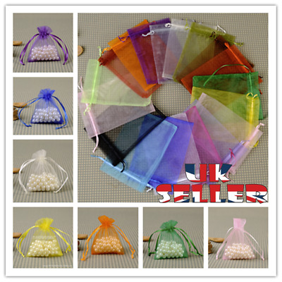 £1.98 • Buy 10-100Pcs Organza Gift Bags Wedding Party Favour Xmas Jewellery Candy Pouches