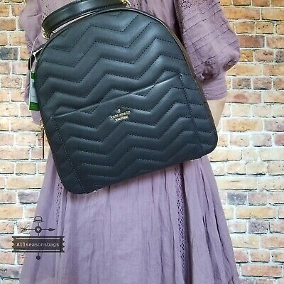 $ CDN255.24 • Buy NWT Kate Spade New York Reese Park Ethel Black Quilted Leather Backpack Bag New
