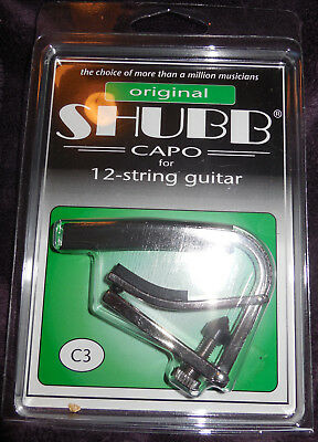 $ CDN27.75 • Buy Shubb C3 Original NEW 12-String Guitar Capo Nickel NIP Free Shipping
