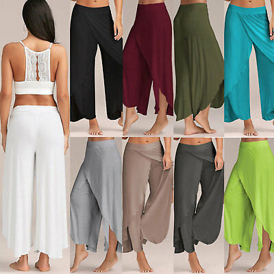 AU27.54 • Buy Women Baggy Harem Pants Yoga Gym Sport Hippie Boho Gypsy Loose Palazzo Trousers