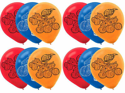12   Blaze And The Monster Machines Latex Balloons Birthday Party  • 3.99£