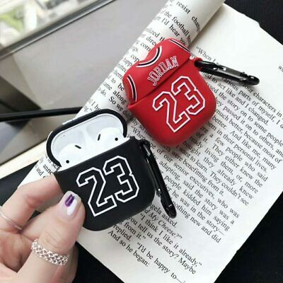 $ CDN10.68 • Buy Jordan 23 Basketball Apple Airpods Case Headset Accessories Silicone Protector