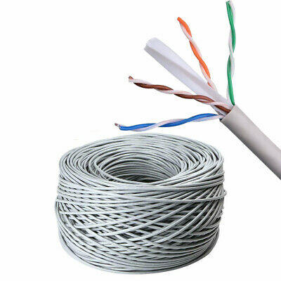 £13.49 • Buy External Outdoor CAT6 LAN Network Ethernet Cable AWG23 CCA UTP 50M-300M Grey Lot