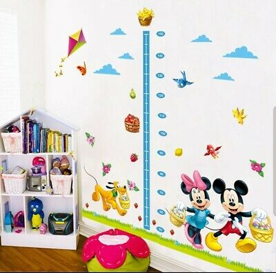 Large Disney Mickey Mouse Height Chart Wall Growth Sticker Childrens Boy Girl UK • 9.75£