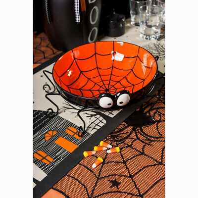 $11.21 • Buy Halloween Spider Table Cover Black Lace Web Ghost Festival Decoration Tablecloth