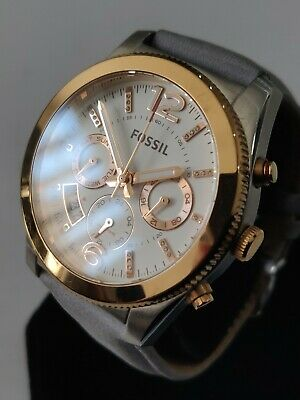 View Details Ladies Fossil Perfect Boyfriend Watch Es4081 Multifunctional Day Date Rose Gold • 33.00£
