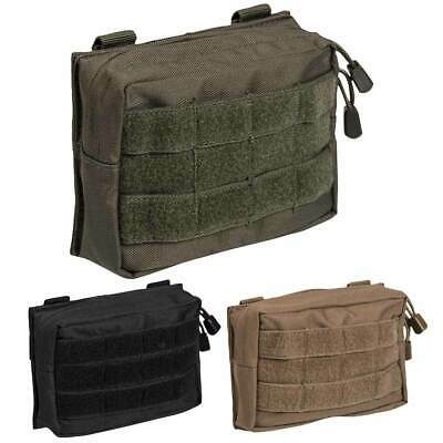 £8.45 • Buy MOLLE Utility Belt Pouch Zipped Airsoft Security Tactical Army Webbing 17 X 12cm