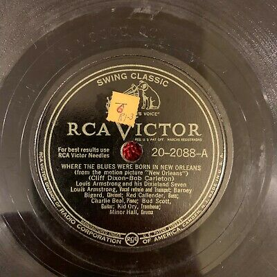 RCA VICTOR 20-2088 Louis Armstrong 78rpm Mahogany Hall Stomp TESTED • 9.99$