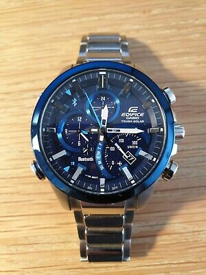 View Details Casio Edifice Mens Bluetooth Watch EQB-501 - Blue - Stainless Steel • 49.99£