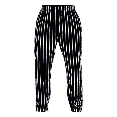 £13.99 • Buy Long Striped Chef Trousers 100% Cotton Catering Pants Kitchen  Chef Trousers