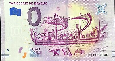 Ticket 0 Zero Euro Souvenir Bayeux Tapestry France 2019 Number 1200 • 7.94£