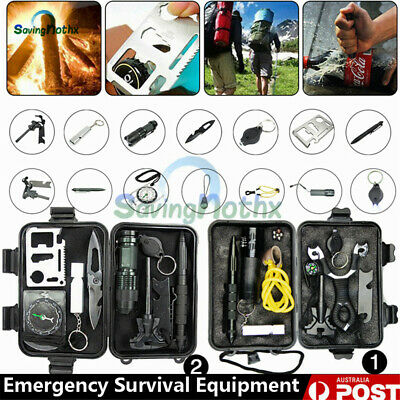 AU26.83 • Buy 2 Emergency Survival Kit /Tactical Hiking Camping Tool/Outdoor Sports Equipment