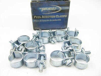 $9.98 • Buy (10) Pronto CB013F Fuel Injection Hose Clamps #4 - 1/4  X 5/8
