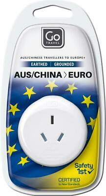 AU7.65 • Buy Go Travel Australia/New Zealand To Europe Adaptor Travel Luggage