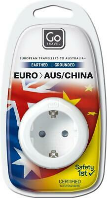 AU7.65 • Buy Go Travel Europe To Australia/New Zealand Adaptor Travel Luggage