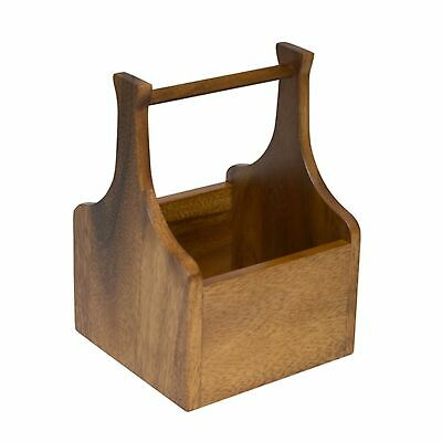 AU42.95 • Buy NEW ARTISAN ACACIA WOOD CUTLERY CADDY Wooden Utensil Holder Storer 14x14CM