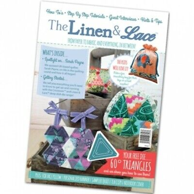 Tattered Lace Linen & Lace Magazine Issue 1 With 3 Triangle Deep Dish Die Set  • 6.99£