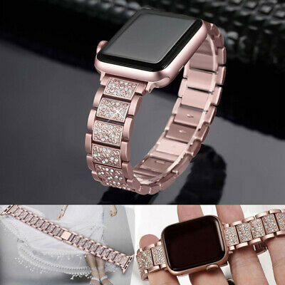 AU21.25 • Buy For Apple Watch Series 4/3/2/1 Bling Stainless Steel Watch Band 38/40/42/44mm AU