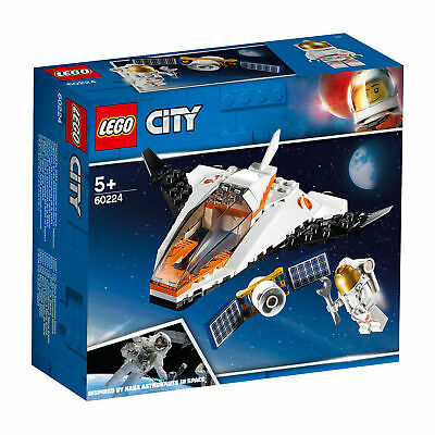 60224 LEGO City Space Port Satellite Service Mission Space Shuttle Inspired By N • 13.93£