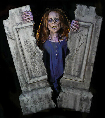 $ CDN424.97 • Buy IN STOCK Cracking Crypt Static Halloween Corpse Tombstone Prop Haunted Cemetary