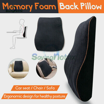 AU26.83 • Buy Memory Foam Lumbar Back Pillow Cushion Chair Support Home Car Office Relax Seat