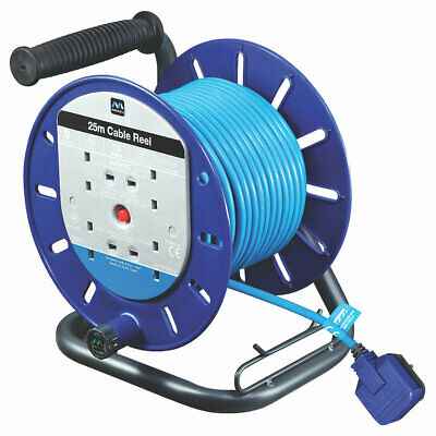 £43.99 • Buy Extension Lead Masterplug 13a 4-gang 25m Cable Reel