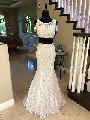 £108.39 • Buy $478 Nwt Two Piece La Femme Prom/pageant/wedding/formal Dress/gown #22339 Size 0