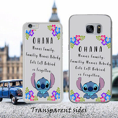 Lilo Stitch Ohana Family Quote Phone Case Cover • 5.99£