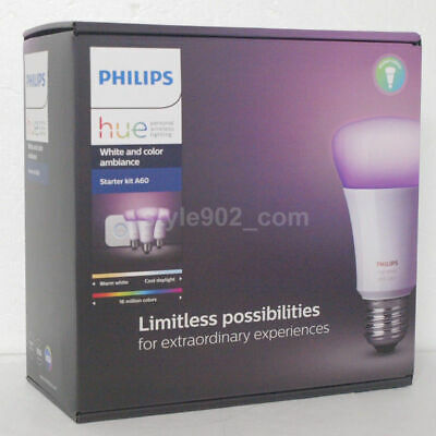AU227.98 • Buy Original Philips Hue 4.0 Starter Kit A60 ( Hue Bridge + 3 Light ) Set Smart LED