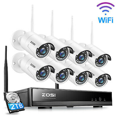 AU494.99 • Buy ZOSI 8CH 1080P Wireless CCTV Security Camera System Home IP WIFI NVR Outdoor 2TB