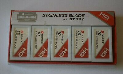 $7.75 • Buy Dorco Stainless Blades Platinum ST-301 (Red) 100pcs - (10 X 10 Packs) - New