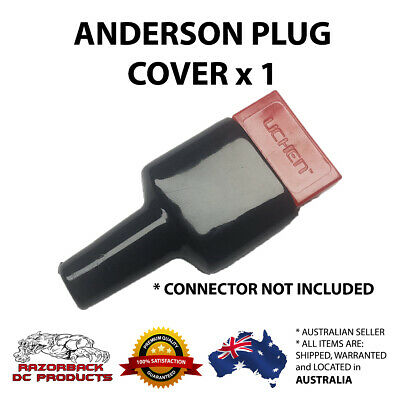 AU4.75 • Buy Waterproof Anderson Style 50A Plug Dust Cable Sheath Cover Black 50A / 50 AMP