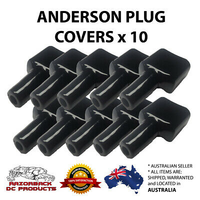 AU24.50 • Buy 10x Waterproof Anderson Style 50A Plug Dust Cable Sheath Cover Black 50A /50 AMP