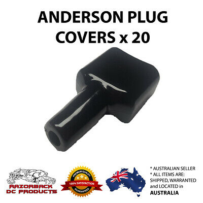 AU35.95 • Buy 20x Waterproof Anderson Style 50A Plug Dust Cable Sheath Cover Black 50A /50 AMP