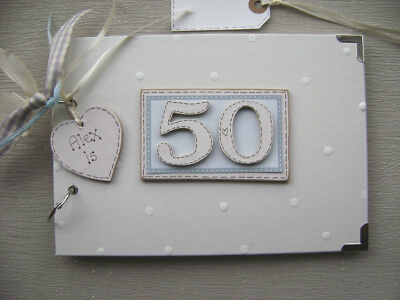 PERSONALISED 50th  Birthday .A5  SIZE... PHOTO ALBUM/SCRAPBOOK/MEMORY BOOK. • 11.99£