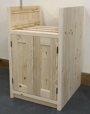 £185 • Buy Pine Traditional Style 2 Door Baby Belfast Kitchen Base Unit For 480mm Wide Sink