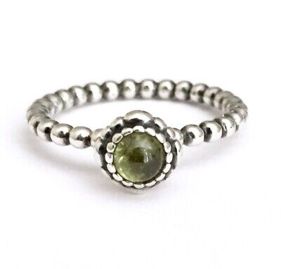 04c523f69 Pandora~sterling Silver Peridot August Birthday Blooms Ring~size 9 • 29.99$