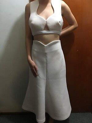 AU112.50 • Buy ALICE McCALL WHITE 2 PIECE SET SZ 12  WOMENS SKIRT & TOP FREE POST (F56)