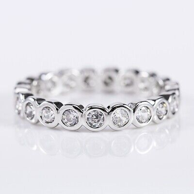 AU3.20 • Buy 925 Silver Jewelry Women Wedding Rings Round Cut White Sapphire Ring Size 6-10