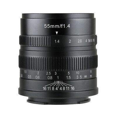 AU159.21 • Buy 7artisans 55MM F1.4 MANUAL Fixed LENS For Sony E Mount A7, A7II, A7R,nex,A7iii