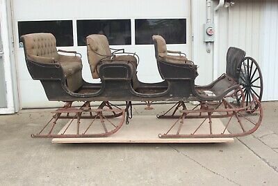 $3400 • Buy Horse Drawn Sleigh Wagon Buggy Carriage Antique