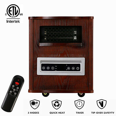 $139.89 • Buy 1500W Fireplace Heater Electric Stove Infrared Blower Fan Small Space Remote