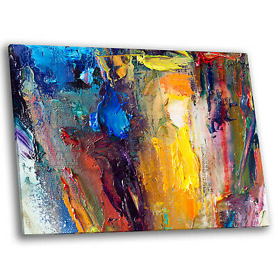 Colourful Abstract Paint Effect Cool Large Modern Wall Art Canvas Picture Prints • 19.99£