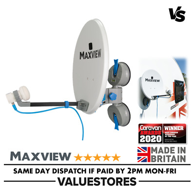 Maxview Remora 40 Suction Mounted Portable Sky Satellite TV Caravan Dish Twin • 134.99£