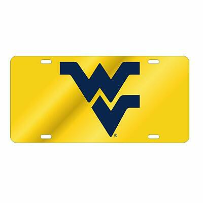 $ CDN30.17 • Buy WVU WEST VIRGINIA Mountaineers Gold-Navy Mirrored License Plate / Car Tag