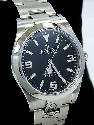 $ CDN9332.46 • Buy Rolex Explorer I 39mm 214270 Steel Oyster Black Dial Watch *MINT CONDITION*