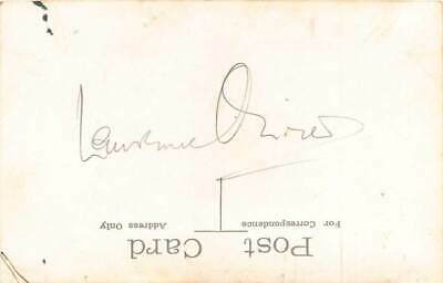 Laurence Olivier Signed Postcard (Signed On Reverse) • 60£